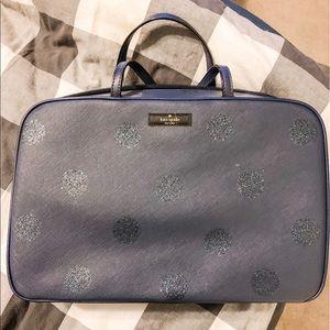 Kate spade Navy sparkle dots Cosmetic makeup bag